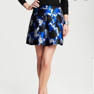 Banana Republic Floral Jacquard Pleated Full Skirt